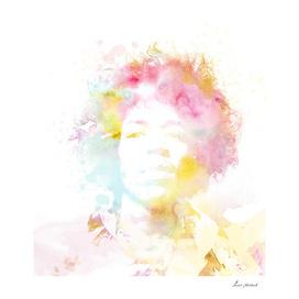 jimmy hendrix watercolor