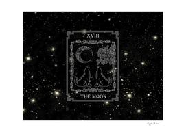 "Tarot ""The Moon"" - silver - wolf version"