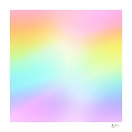 Beautiful Pastel Rainbow Ombre Design