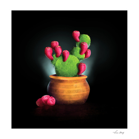 Potted Glowing Cactus