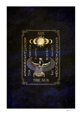 "Tarot ""The Sun"" - Goddess Isis - blue version"