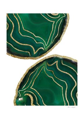 Emerald Agate Gold Glam #1 #gem #decor #art