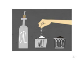 OIL, SALT, PEPPER