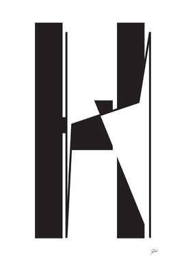 Typography letter H