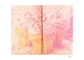 Pink Cupcakes Diary Cover