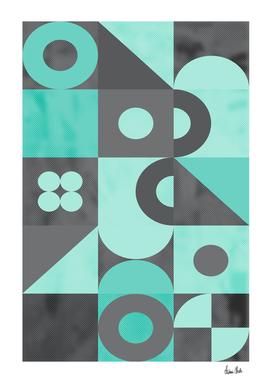 Geometric Art No. 1 turquoise