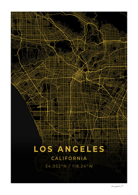 Los Angeles Gold City Map