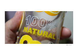 100% natural pineapple flavored drink