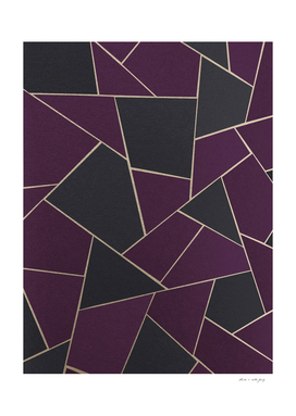 Charcoal Purple Gold Geometric Glam #1 #geo #decor #art