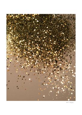 Sparkling Gold Brown Glitter Glam #1 (Faux Glitter) #shiny
