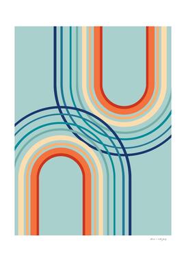 Rainbow Arch Minimal Abstract #2a #decor #art