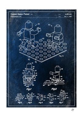 1980 mini figure chalkboard patent