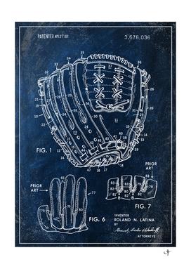 1971 baseball glove chalkboard patent