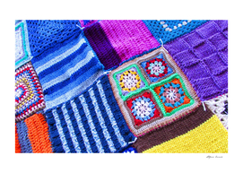 Colored knitted fabrics - art and passion
