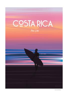 costa rica travel poster
