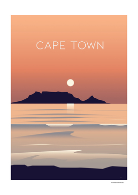 Cape Town South Africa Travel Poster