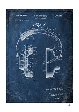 1966 headphone chalkboard patent