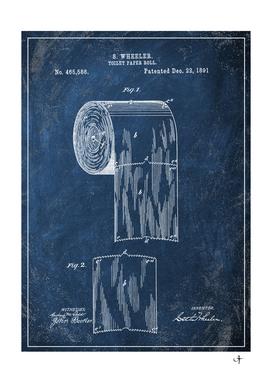 1891 toilet paper roll chalkboard patent