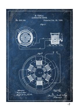 1896 tasla motor chalkboard patent