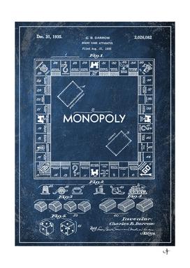 1935 board game chalkboard patent