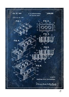 1961 building brick chalkboard patent