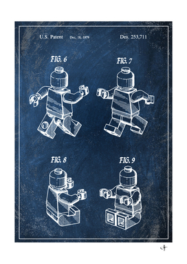 1979 toy figure chalkboard patent