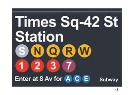 new york subway signage