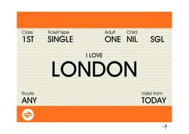 i love london ticket