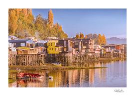 Lakefront Palafito Houses, Chiloe Island, Chile