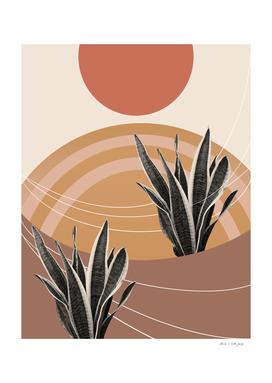 Snake Plant in the Desert #2 #tropical #wall #art
