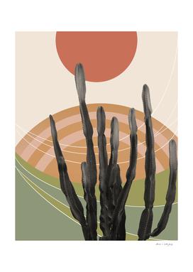 Cactus in the Desert #3 #tropical #wall #art