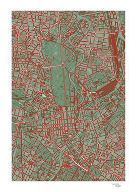 Berlin city map pop