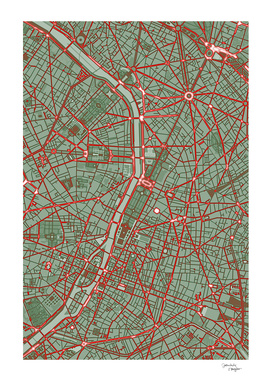 Paris city map pop