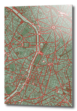 Paris city map pop