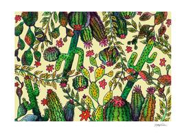 Yellow Cactus Pattern