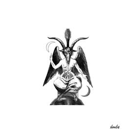 Baphomet Goat with Satanic symbols
