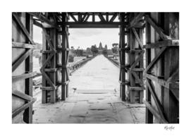 Boring black and white Angkor Wat