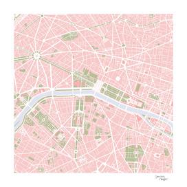 Paris city map vintage