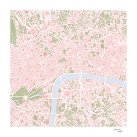London city map vintage