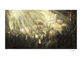 Homage to Jacques-Louis David's Coronation of Napoleon