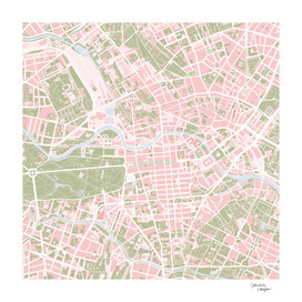 Berlin city map vintage