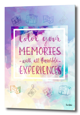 Color your memories