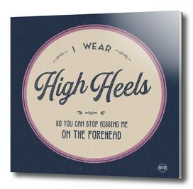 High heels retro graphic logo