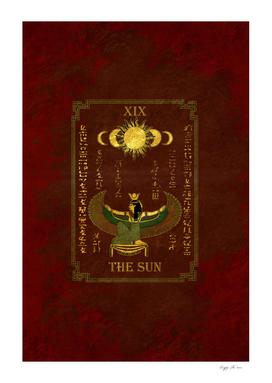 "Tarot ""The Sun"" - Goddess Isis - redversion"