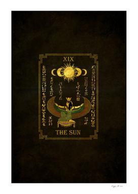 "Tarot ""The Sun"" - Goddess Isis - black version"
