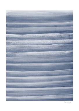 Touching Navy Blue Watercolor Abstract Stripe #1 #painting