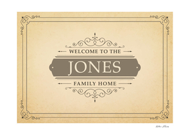 Welcome to the Jones Family Home