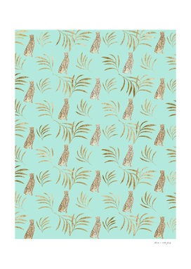 Cheetah Eucalyptus Glam Pattern #6 #tropical #decor #art