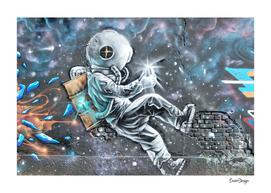 Astronaut street art