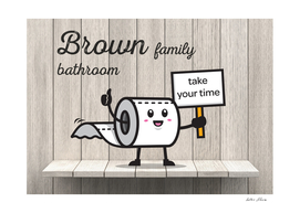 Brown Family Bathroom